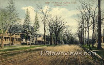 Deer Hill Ave. - Danbury, Connecticut CT Postcard