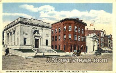 Savings Bank of Danbury - Connecticut CT Postcard