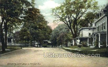 West & Division Sts. - Danbury, Connecticut CT Postcard
