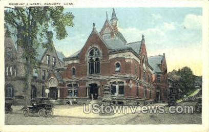 Danbury Library - Connecticut CT Postcard