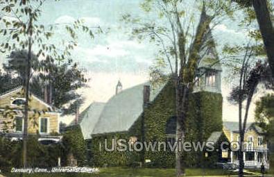 Universalist Church - Danbury, Connecticut CT Postcard