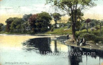 Oilmill Pond - Danbury, Connecticut CT Postcard