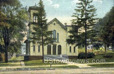 2nd Congregational Church - Danbury, Connecticut CT Postcard
