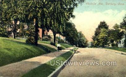 Westville Ave. - Danbury, Connecticut CT Postcard