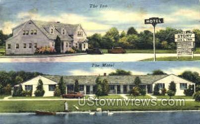 Stony Hill Inn - Danbury, Connecticut CT Postcard
