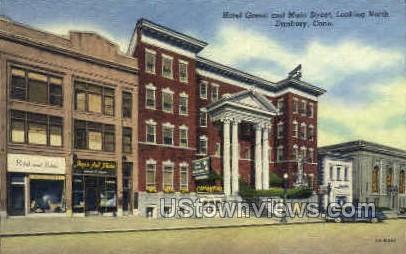 Hotel Green & Main Street - Danbury, Connecticut CT Postcard
