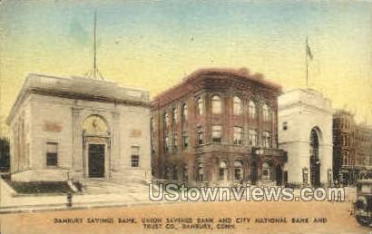 Danbury Savings Bank - Connecticut CT Postcard