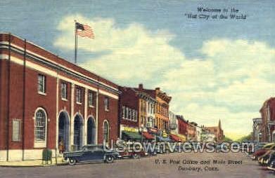 U.S. Post Office - Danbury, Connecticut CT Postcard