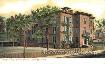 New Street School - Danbury, Connecticut CT Postcard