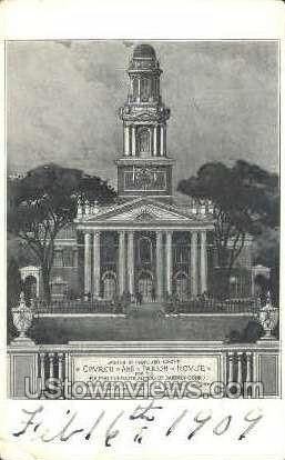 Church & Parish House - Danbury, Connecticut CT Postcard
