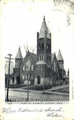 Baptist Church - Danbury, Connecticut CT Postcard