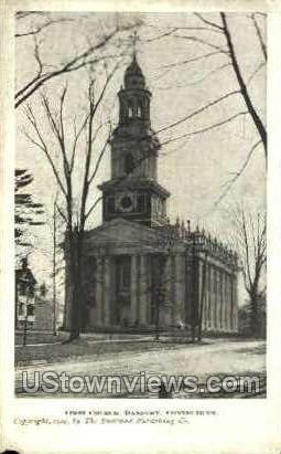 First Church - Danbury, Connecticut CT Postcard