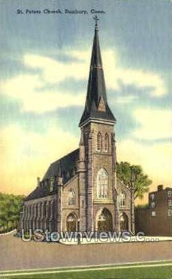 St. Peters Church - Danbury, Connecticut CT Postcard