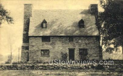 The Old Stone House - Guilford, Connecticut CT Postcard