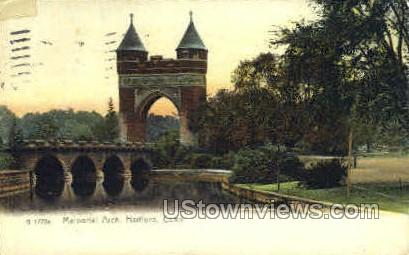 Memorial Arch - Hartford, Connecticut CT Postcard