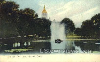 Park Lake - Hartford, Connecticut CT Postcard
