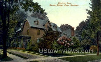 HarrietBeecher Stowe Residence - Hartford, Connecticut CT Postcard