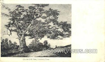 Charter Oak Tree - Hartford, Connecticut CT Postcard