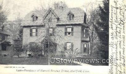 Residence Harriet Beecher Stowe - Hartford, Connecticut CT Postcard