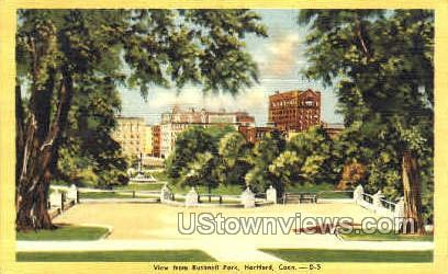 Bushnell Park - Hartford, Connecticut CT Postcard