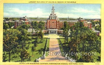 Aetna Life Insurance Company - Hartford, Connecticut CT Postcard