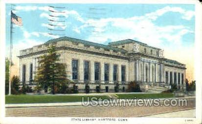 State Library - Hartford, Connecticut CT Postcard