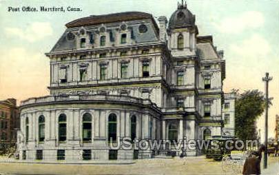 Post Office - Hartford, Connecticut CT Postcard