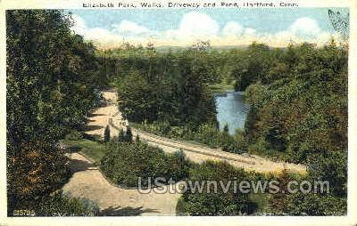 Walks, Elizabeth Park - Hartford, Connecticut CT Postcard