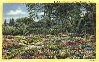 Rock Garden, Elizabeth Park - Hartford, Connecticut CT Postcard