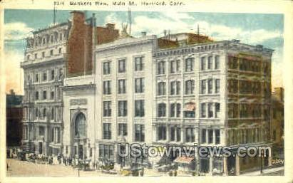 Bankers Row - Hartford, Connecticut CT Postcard