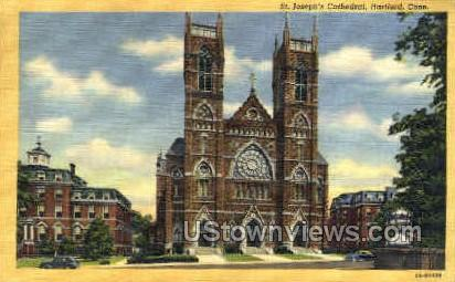 St. Joseph's Cathedral - Hartford, Connecticut CT Postcard