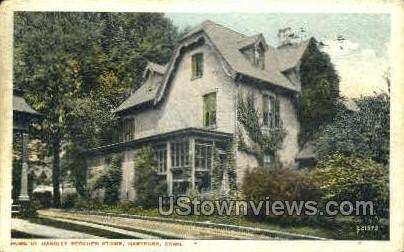Home of Harriet Beecher Stowe - Hartford, Connecticut CT Postcard
