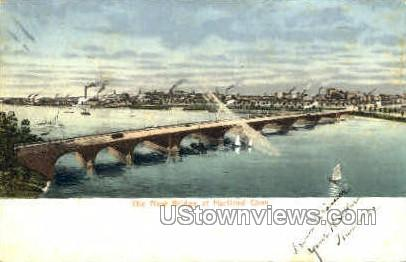The New Bridge - Hartford, Connecticut CT Postcard