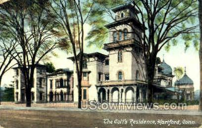 The Colt's Residence - Hartford, Connecticut CT Postcard