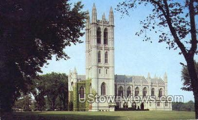Chapel, Trinity College - Hartford, Connecticut CT Postcard