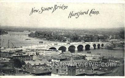 Stone Bridge - Hartford, Connecticut CT Postcard