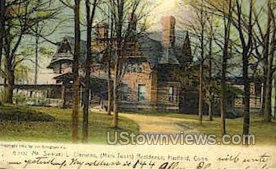 mr. Samuel L. Clemens Residence - Hartford, Connecticut CT Postcard