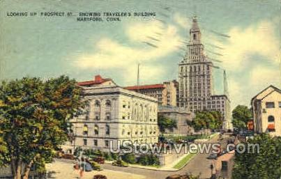 Prospect St. - Hartford, Connecticut CT Postcard
