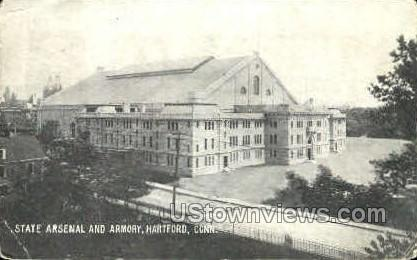 State Arsenal & Armory - Hartford, Connecticut CT Postcard