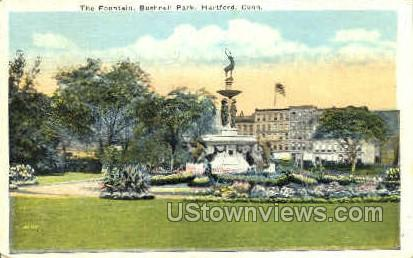 The Fountain, Bushnell Park - Hartford, Connecticut CT Postcard