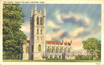 The Chapel, Trinity College - Hartford, Connecticut CT Postcard