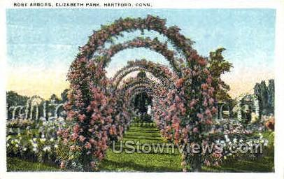 Rose Arbors, Elizabeth Park - Hartford, Connecticut CT Postcard