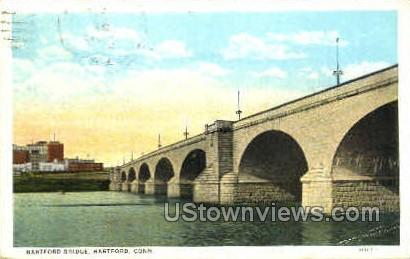 Hartford Bridge - Connecticut CT Postcard