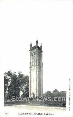 Kenney Memorial Tower - Hartford, Connecticut CT Postcard