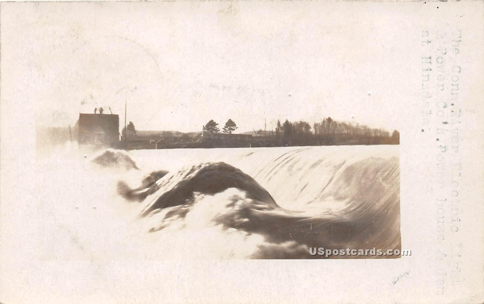 Conn River Electric Light & Power Co - Hinsdale, Connecticut CT Postcard
