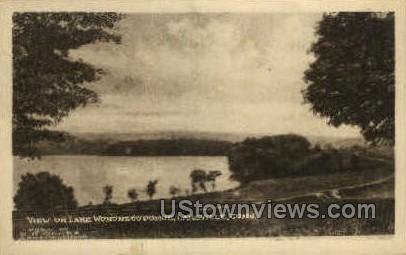 Lake Wononscopomuc - Lakeville, Connecticut CT Postcard