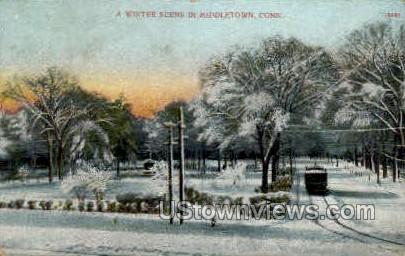 Winter - Middletown, Connecticut CT Postcard