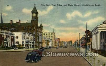 Post Office - Middletown, Connecticut CT Postcard