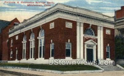 Mechanics Savings Bank - Middletown, Connecticut CT Postcard