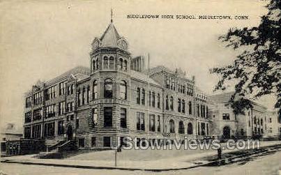 Middletown High School - Connecticut CT Postcard